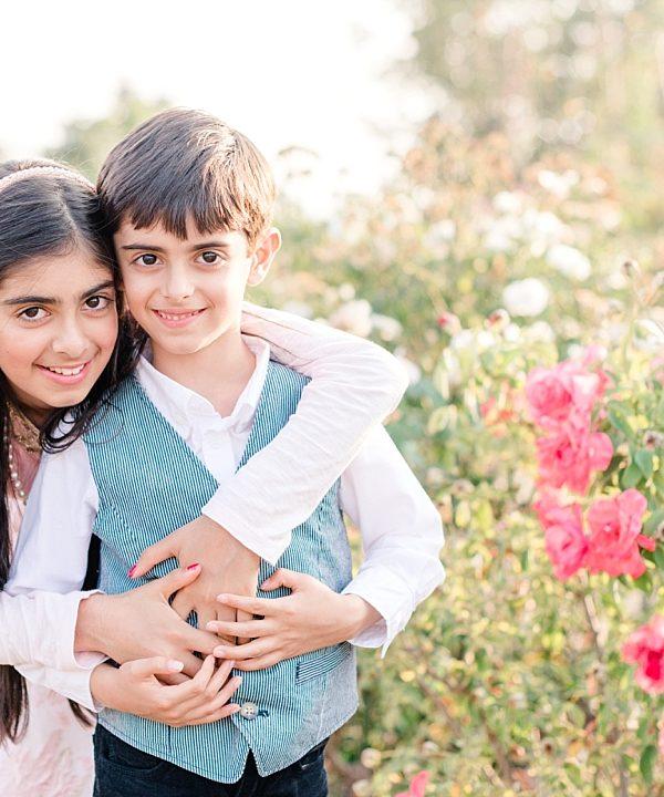 Anshu & Anshul Family | Heritage Rose Garden | San Jose