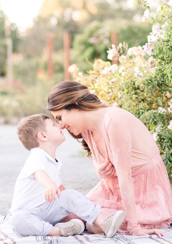 Jordanna and Holden – Mommy and me Session | San Jose Heritage Rose Garden