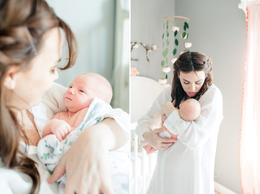 Bay Area Mommy and Me Lifestyle Newborn Session