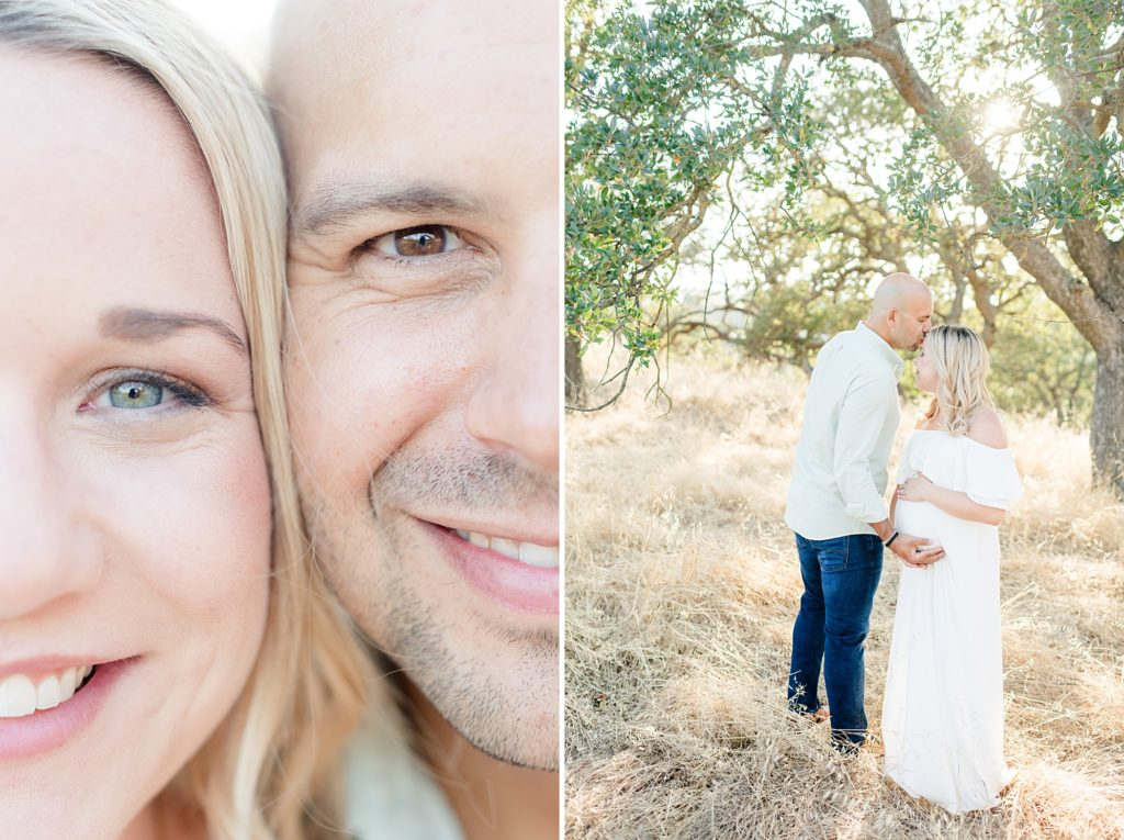 San Jose Summer Maternity session in White Dress