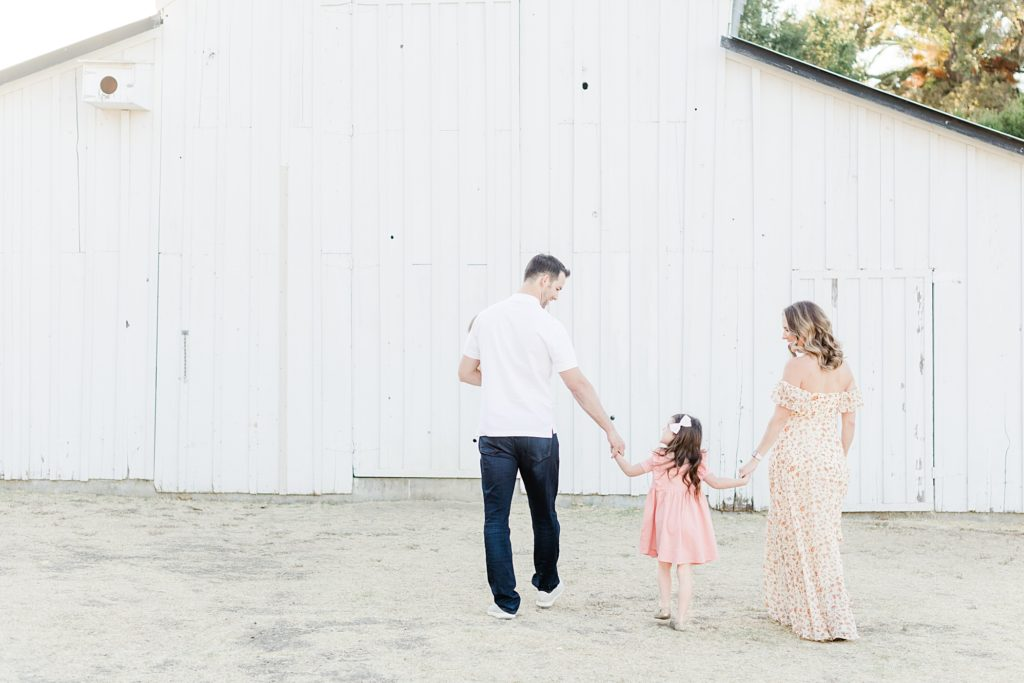 San Jose White Barn Light and Airy Family Session