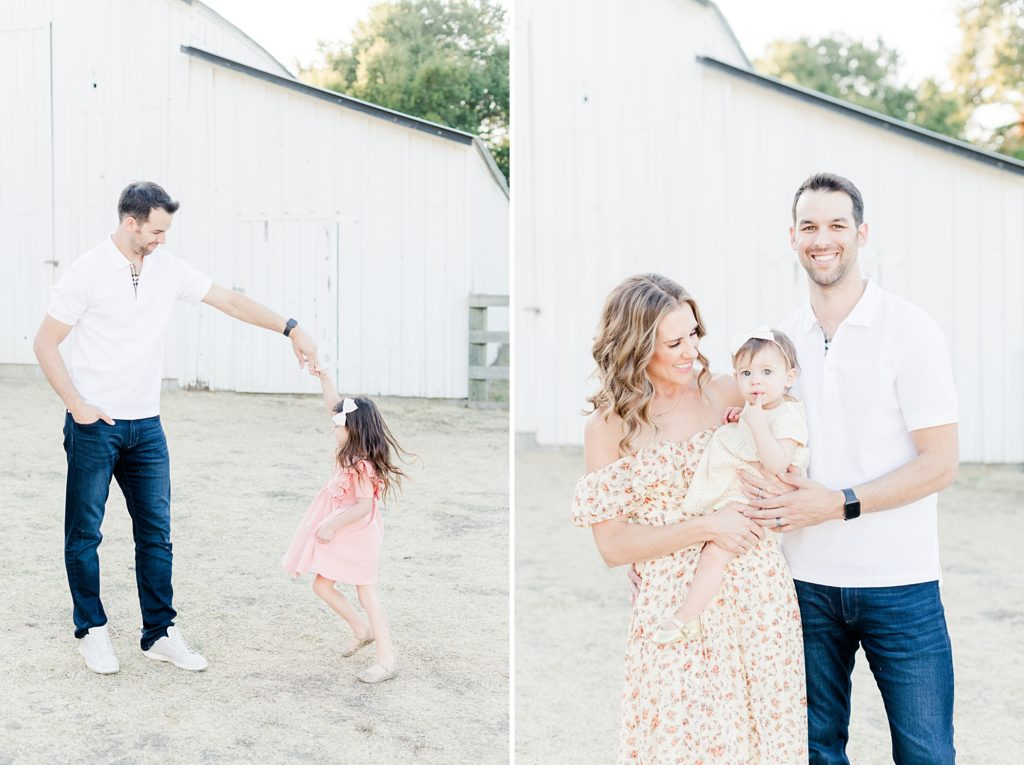 San Jose White Barn Light and Airy Fall Family Photos