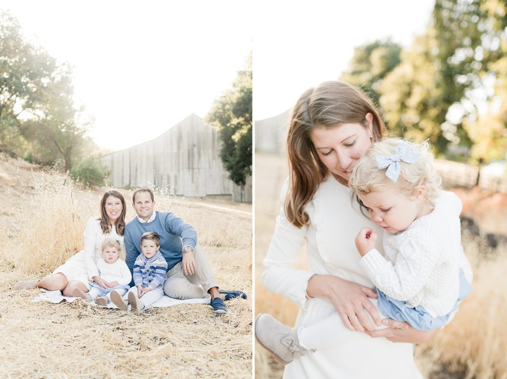 San Jose Fall family session white barn