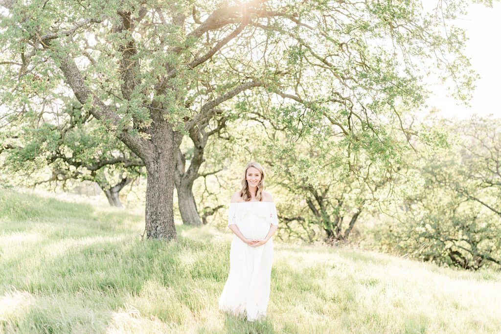 Almaden Spring maternity photoshoot