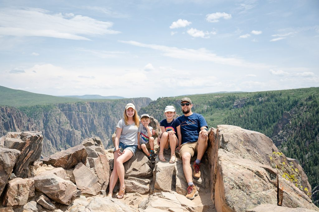 Black Canyon of the Gunninson National Park. Family Trip to Colorado