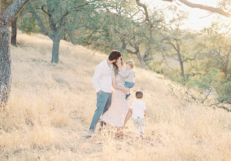 Almaden valley family photoshoot