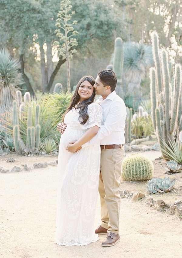 Dreamy Maternity Photoshoot | Arizona Cactus Garden, Palo Alto
