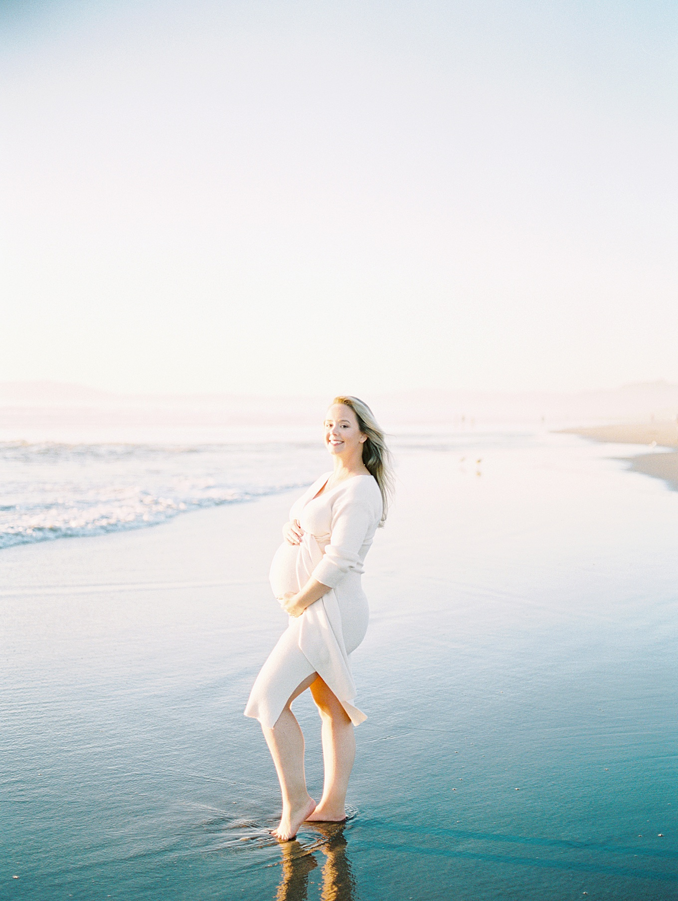 Sunset Beach Maternity Photoshoot